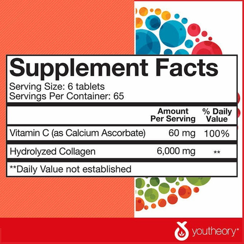 youtheory collagen con vitamian c - 390 tablets