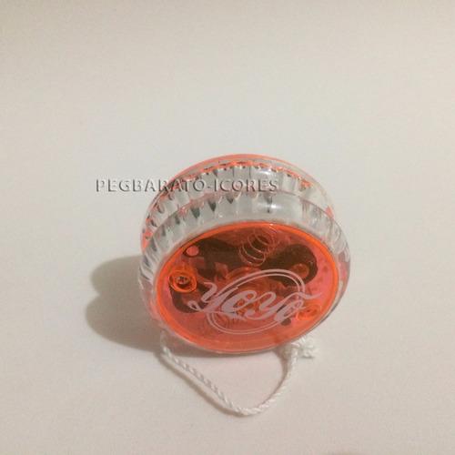 yoyo profissional c/ luz ioio ioiô moderno laranja  model 2