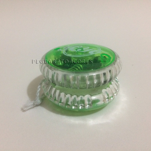 yoyo profissional c/ luz ioio ioiô moderno verde moderno