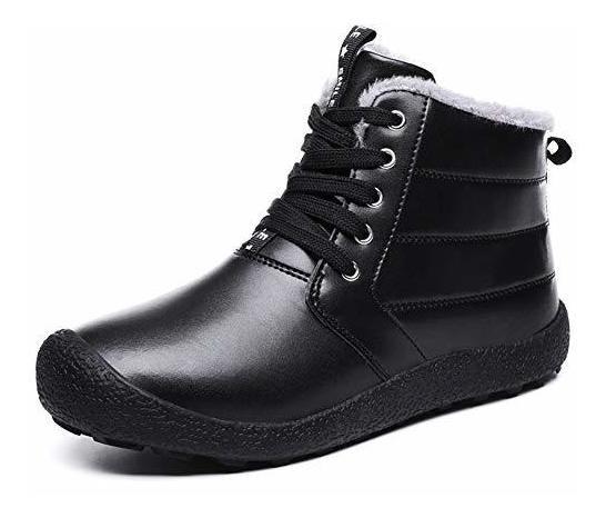 Yqsl Hombres Botas De Nieve Impermeable Invierno Zapatos Cal