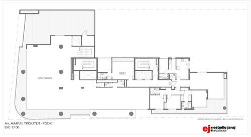 yrigoyen blvd · 4 amb, terraza 35 m2 ·