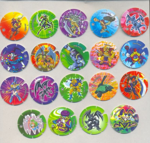yu - gi - oh : 30 diferentes tazos