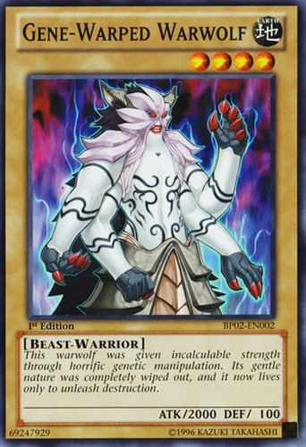 yu-gi-oh gene-warped warwolf - common