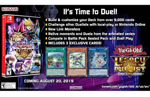 yu-gi-oh! legacy of the duelist: nint-switch nuevos y sellad