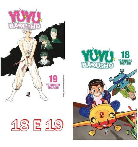 yu yu hakusho 18 e 19! mangá jbc! lacrado! complete coleção!