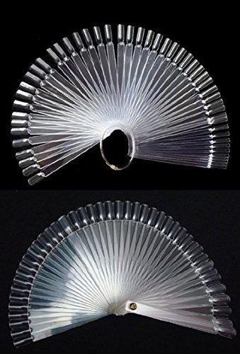 yueton 2 set total 100 consejos transparente fan-shaped nail