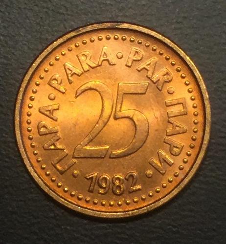 yug001 moneda yugoslavia 25 para 1982 unc-bu ayff
