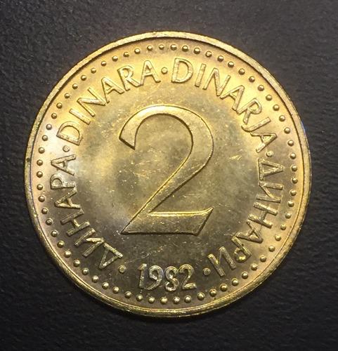 yug004 moneda yugoslavia 2 dinara 1982 unc-bu ayff