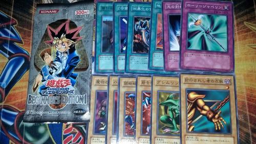 yugi-oh beginners edition sobre lote de cartas12 japones
