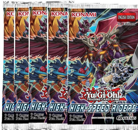 yugioh - 5 x boosters high-speed riders (runners)