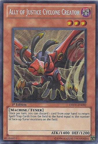 yugioh ally of justice cyclone creator  secret 1ed drev-092