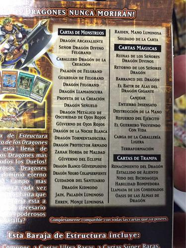 yugioh deck rise of the true dragons y envio gratis dhl