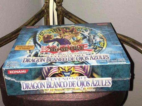 yugioh- dragón blanco ojos azules (caja de sobres lob 1st)