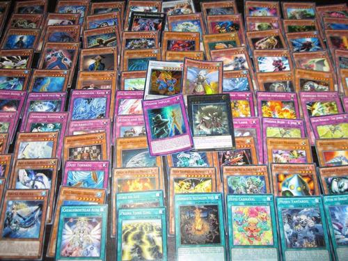 yugioh mega pacote 105 cartas com raras e holofoil originais