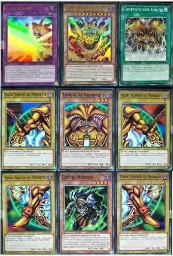 yugioh  set exodia piezas ultra y 4 cartas m u00e1s env u00edo dhl