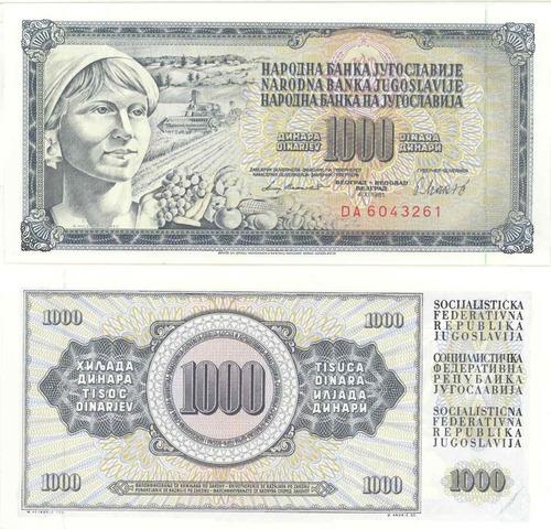 yugoslavia - billete 1000 dinara 1981 - nuevo!!!!