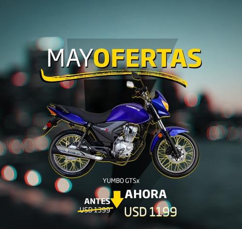 yumbo gts x 125 strong financiación 36 cuotas delcar motos