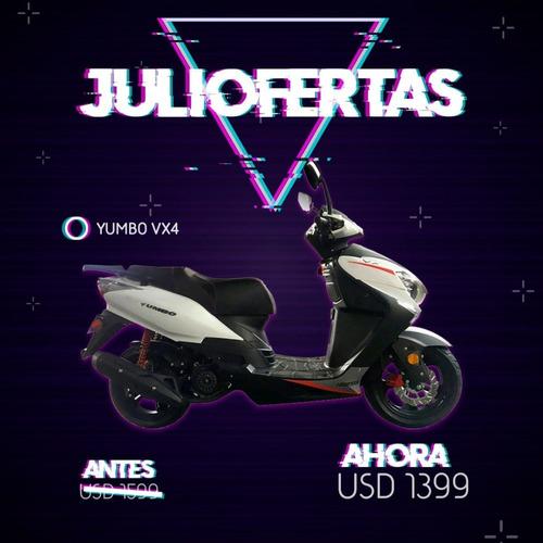 yumbo  vx 4 125 scooter 36 cuotas delcar motos