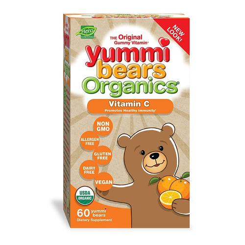 yummi bears organics héroe nutrición vitamina c la vit...