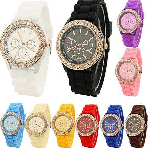 yunan vende al por mayor 10-pack el reloj de silicón uni...
