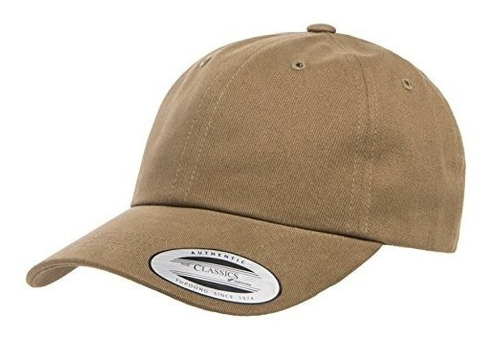 yupoong peached cotton twill dad cap, loden, talla unica