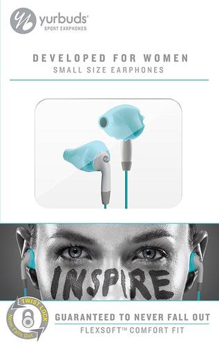 yurbuds inspire - auriculares deportivos de mujer (aguamarin