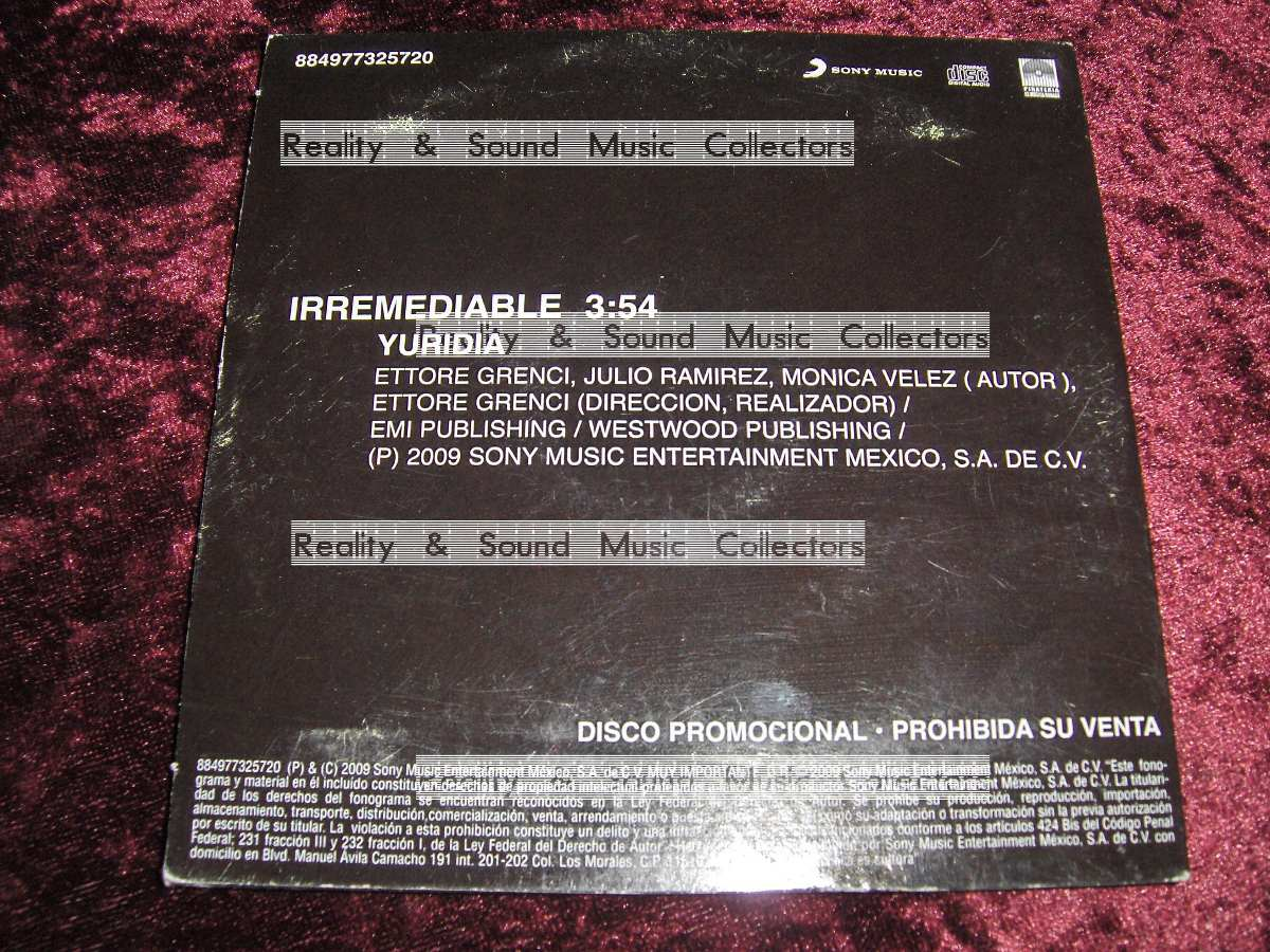 cd irremediable yuridia