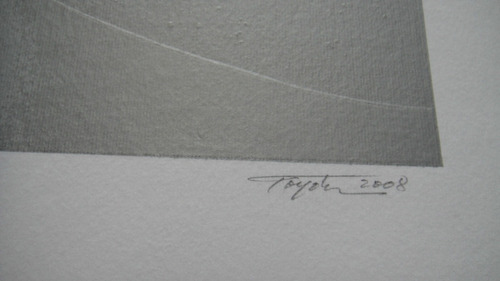 yutaka toyota - comp. prateada e vermelha - linda serigrafia