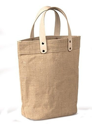 yute regalo bolsa bolsa con asas de piel tamaño pequeño 12