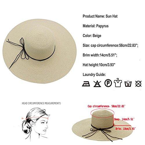 Yuuve Grandes Brim Mujeres Sombrero Protector Solar Acces ... 60a5acb7fd0d