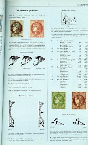 yvert et tellier - catalogue timbres de france - t. 1 - 1996