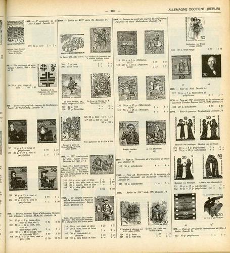 yvert & tellier, catalogue timbres-postes, europe de l'ouest