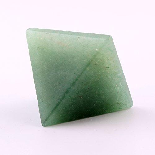 ywg piedra verde aventurina 1.5 pulgadas piramide natural ta