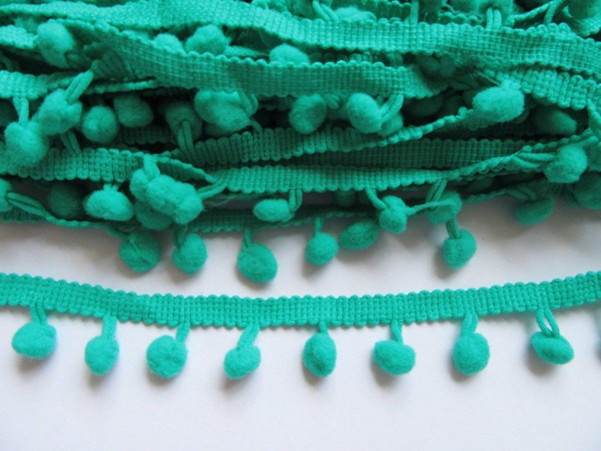YYCRAFT One Roll 9 Yards 5//8 Inch Large Pom Pom Trim Continuous Trim Lot Wholesale Ball Fringe Sewing-Aqua