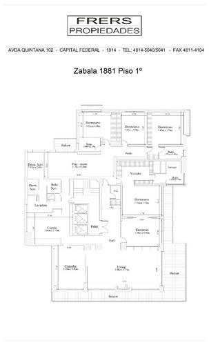 zabala 1800 - belgrano c/chico/barrancas - departamentos 4 o + dorm. - venta