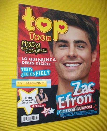 zac efron revista top teen 2011