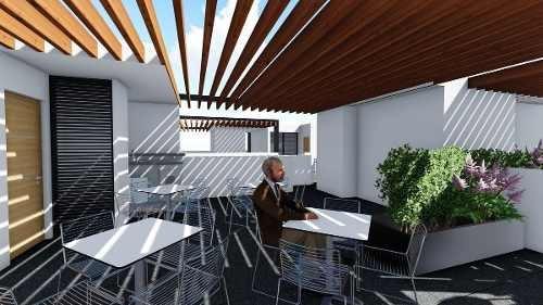 zacahuitzco,benito juárez, ph con roof garden privado de 51.77m