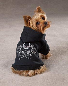 zack y zoey capucha crossbone coronada por perros, 16 medio
