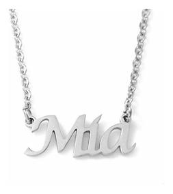 Silver Tone Zacria Lilly Custom Name Necklace Personalized