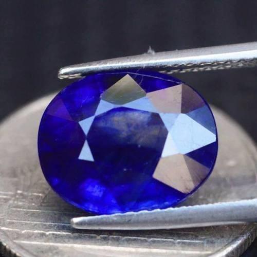 zafiro royal blue de madagascar 6.41 quilates