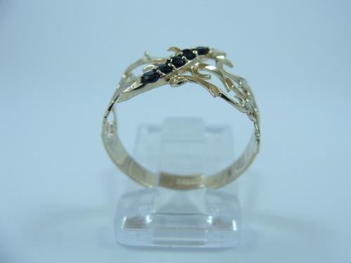 zafiros oro anillo