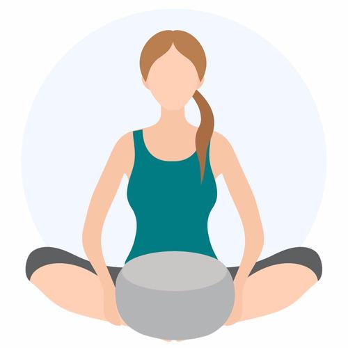 zafu - cojín de meditación aqua mandala