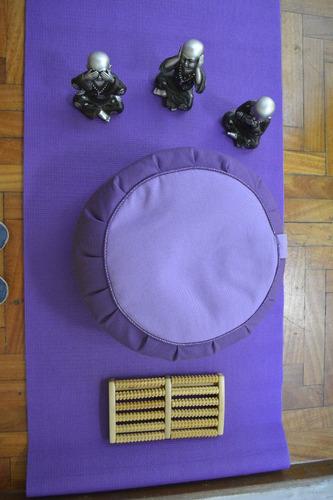 zafú mediano meditación. alt 21 cm centro 25 almohadon zafu