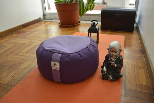 zafu meditación  almohadón alt 24 cm d:35 c:26 mediano