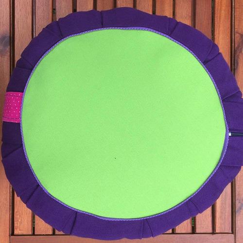 zafu premium - 35x20 almohadón meditación yoga -- shie shie