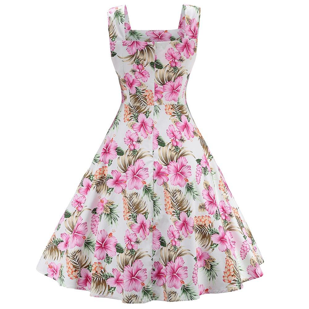 Zaful Hepburn Vendimia Serie Vestido Mujeres - $ 420.74 en Mercado Libre