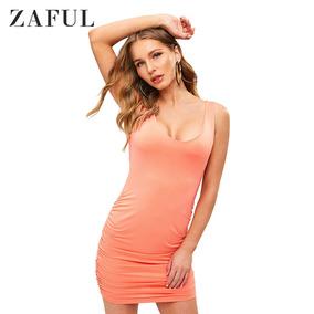 5d43a8c6c Faldas Zaful - Vestidos de Mujer Largo Naranja en Mercado Libre México