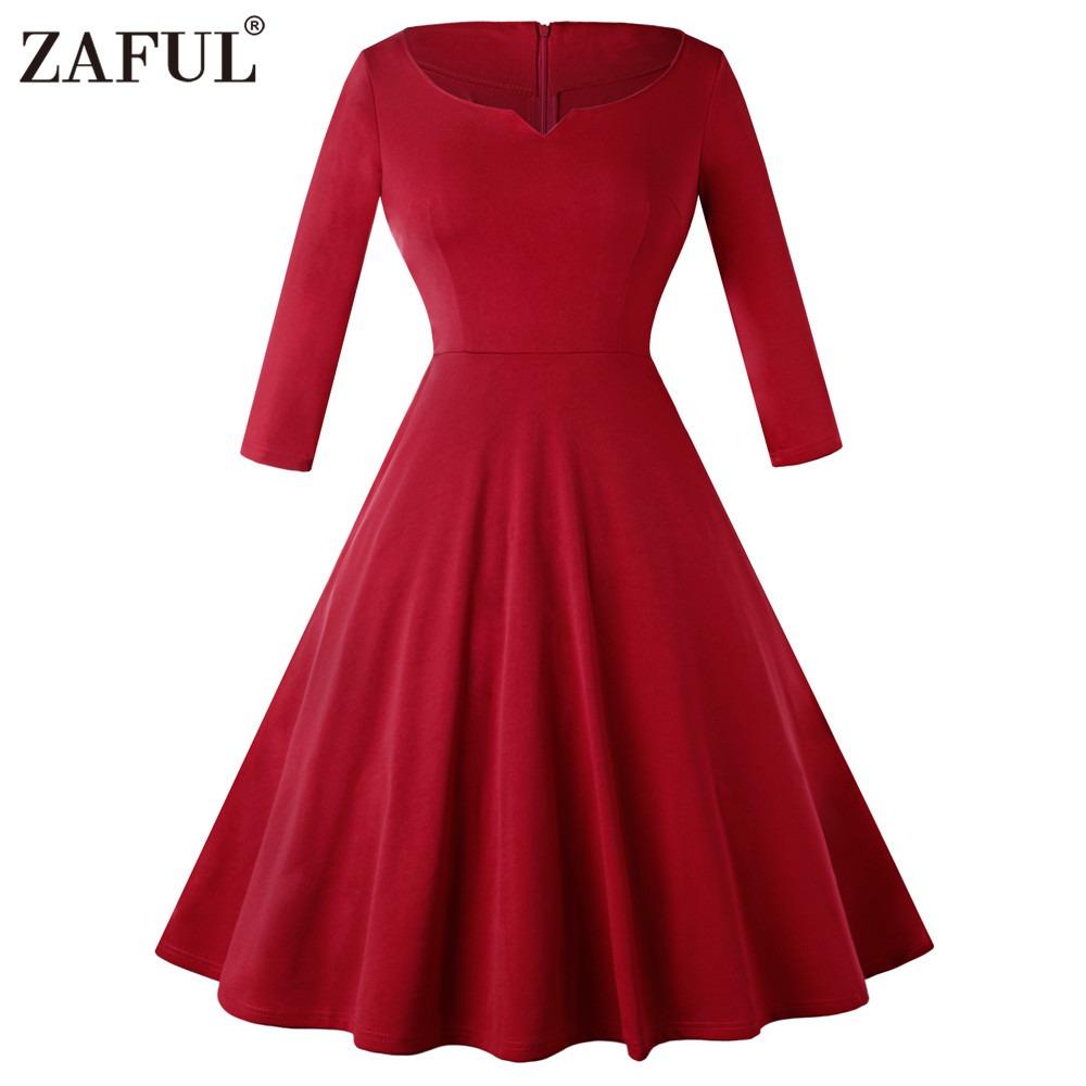 Vestidos de invierno rojos