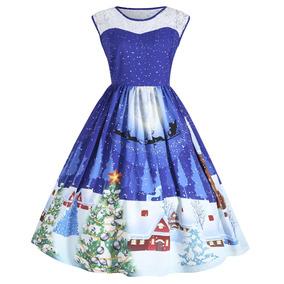 bc7cf418e2e3 Zaful Vintage Árboles De Navidad Impresión De Encaje Vesti