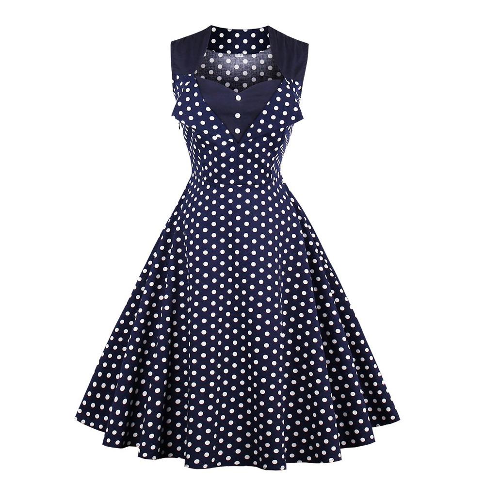 Zaful Vintage Vestido De La Rodilla-longitud De La Línea De ...